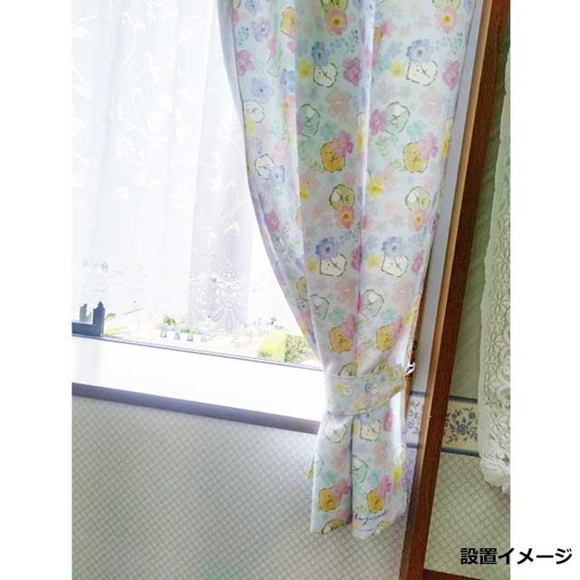 すみっコぐらし カーテン(水彩ライトブルー)