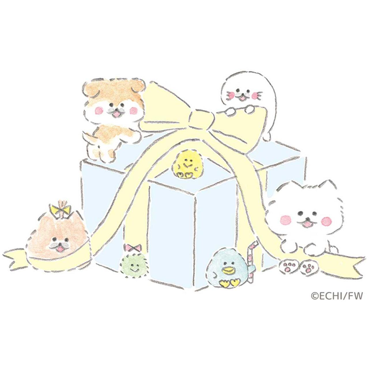 よだれかけ(黄) プレゼントデザイン